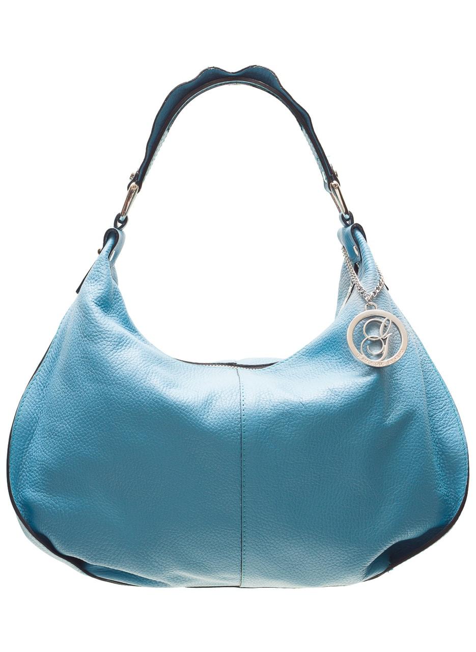 Glamadise.sk - Dámska kožená kabelka cez rameno pútko s volánom ... 4cdc180c34e