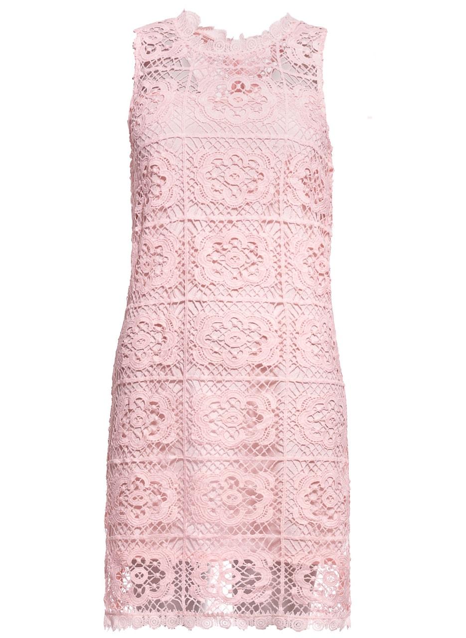 Dámské šaty z krajky - světle růžová - Due Linee - Promoce a svatby ... 694090b44c