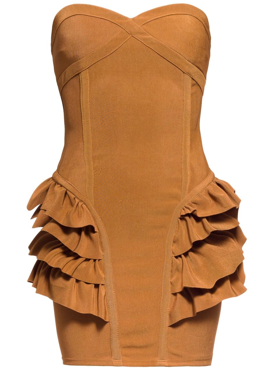 63f50ebc57 Glamadise.sk - Dámske horčicovej šaty na prsia - Davity Paris ...