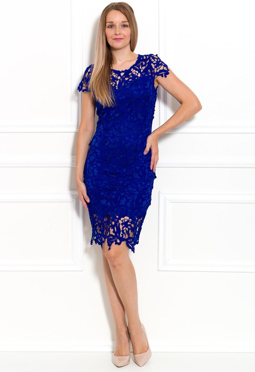 Glamadise.sk - Dámske luxusné krajkové šaty - kráľovsky modrá - Due ... 9f50e599eda