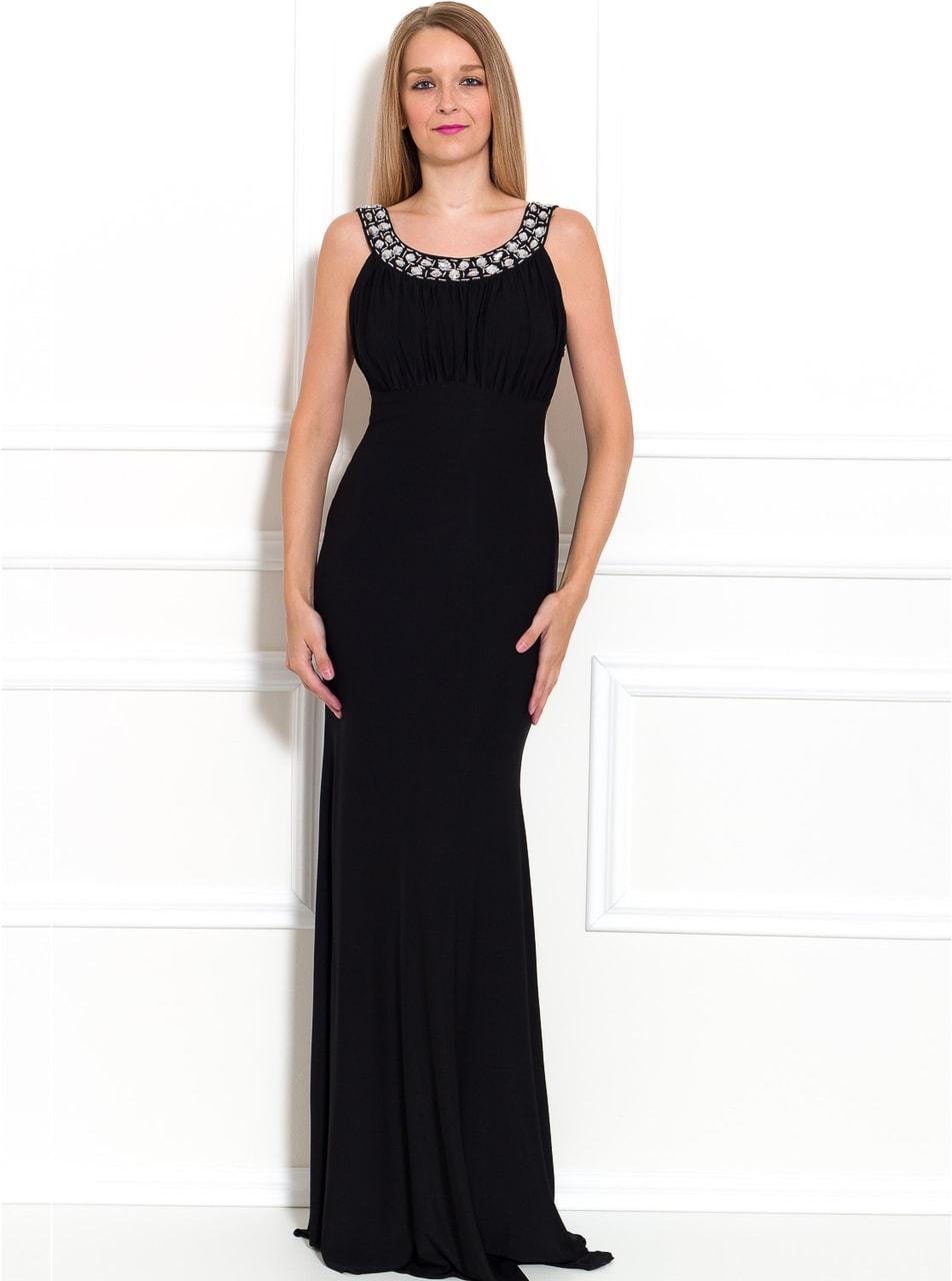Společenské dlouhé šaty s velkými kamínky - černá - Due Linee - Last ... 92d74254a8
