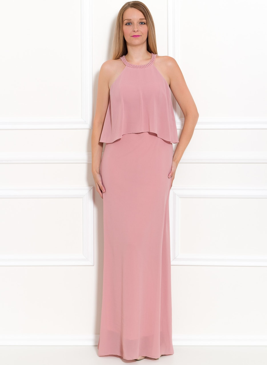 Glamadise.hu Fashion paradise - Női hosszú ruha Due Linee -Rózsaszín ... ccb13450f4