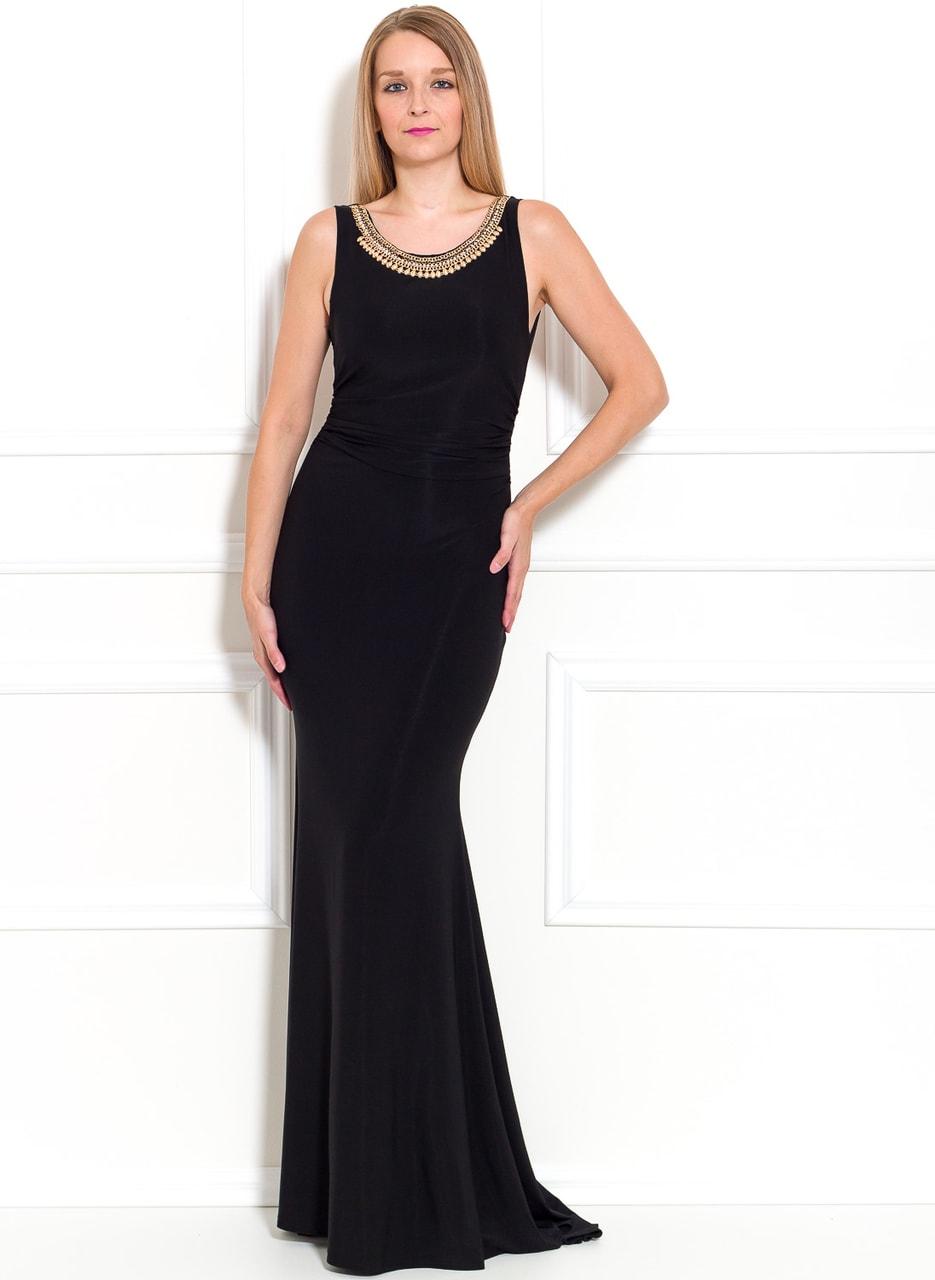 Společenské dlouhé šaty s náhrdelníkem - černá - Due Linee - Last ... 0f70595028