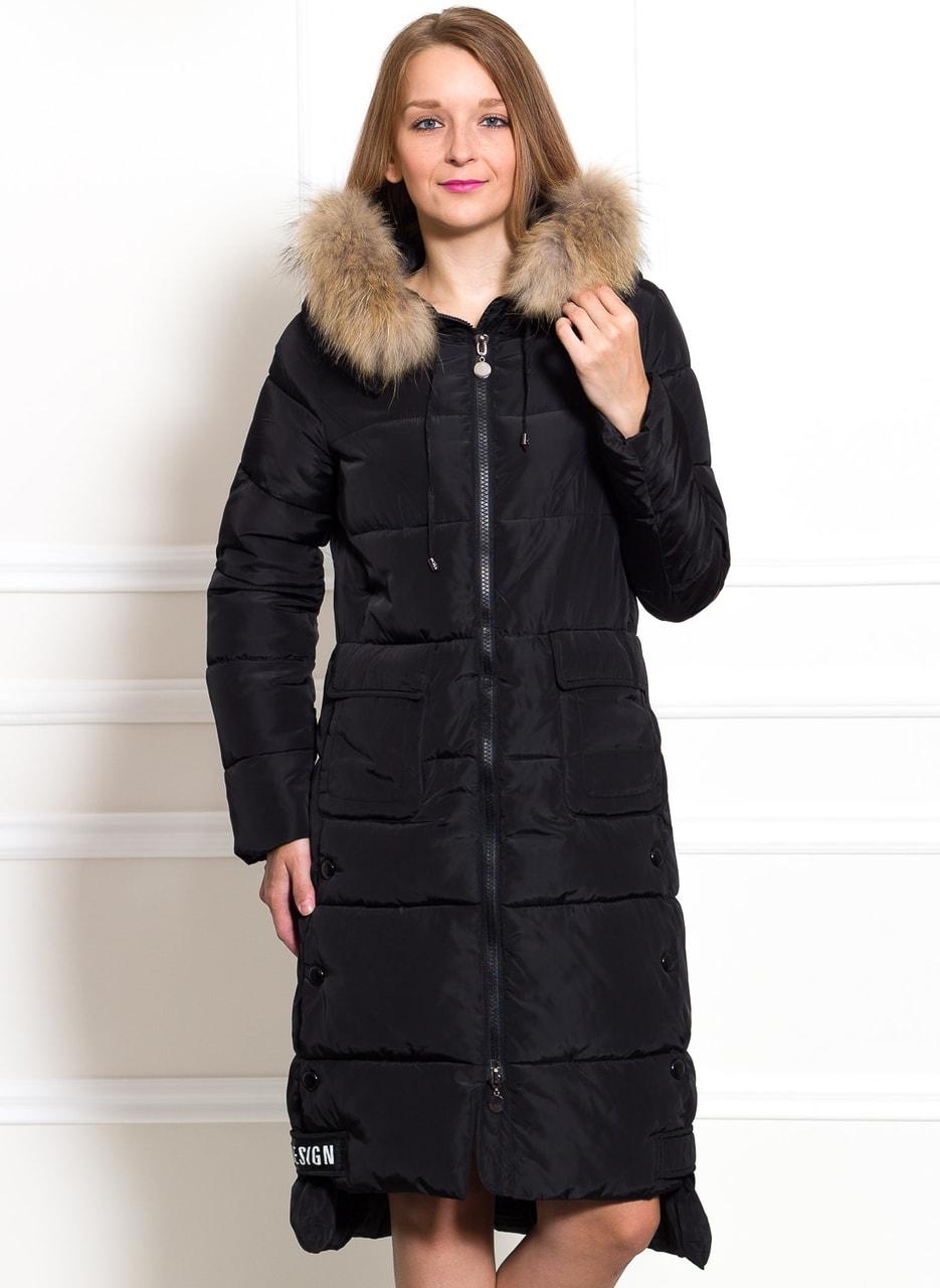 f47e3a04cb Glamadise.hu Fashion paradise - Női téli kabát eredeti rókaszőrrel ...