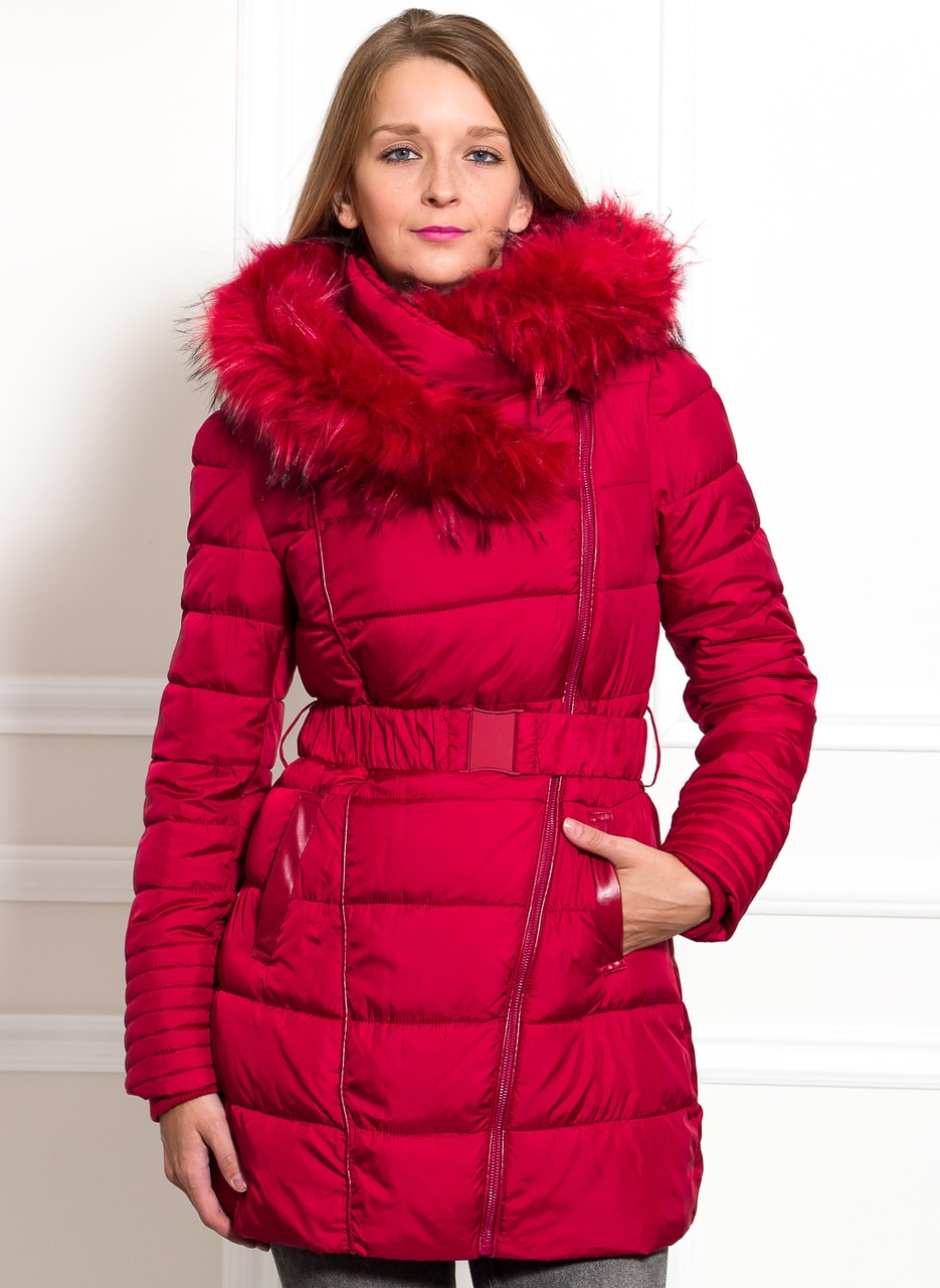 0212986cf5 Glamadise.hu Fashion paradise - Női téli kabát Due Linee - Piros ...