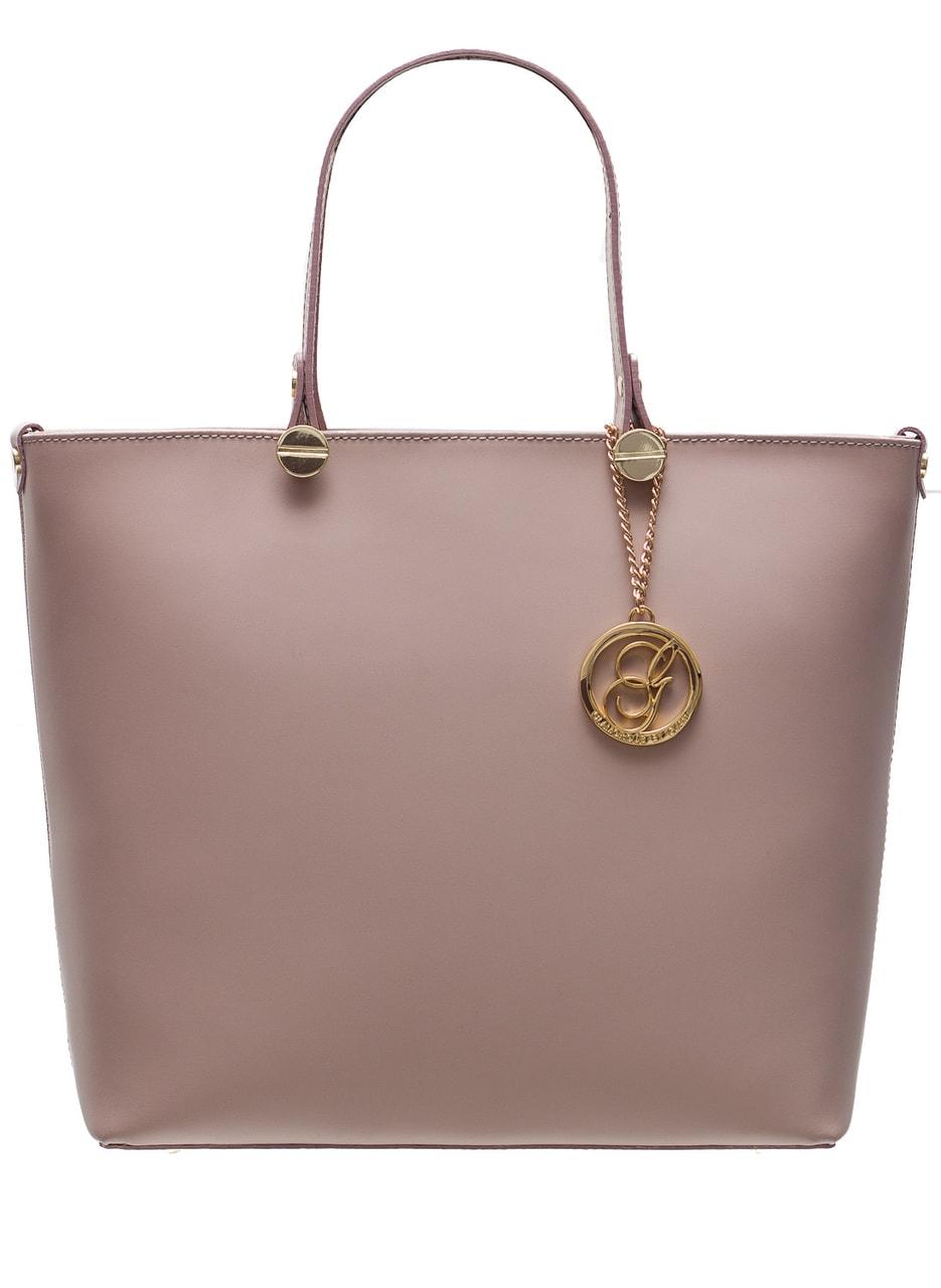 Glamadise.sk - Dámska kožená kabelka do ruky so zlatým kovaním ... 9be6eb6e134