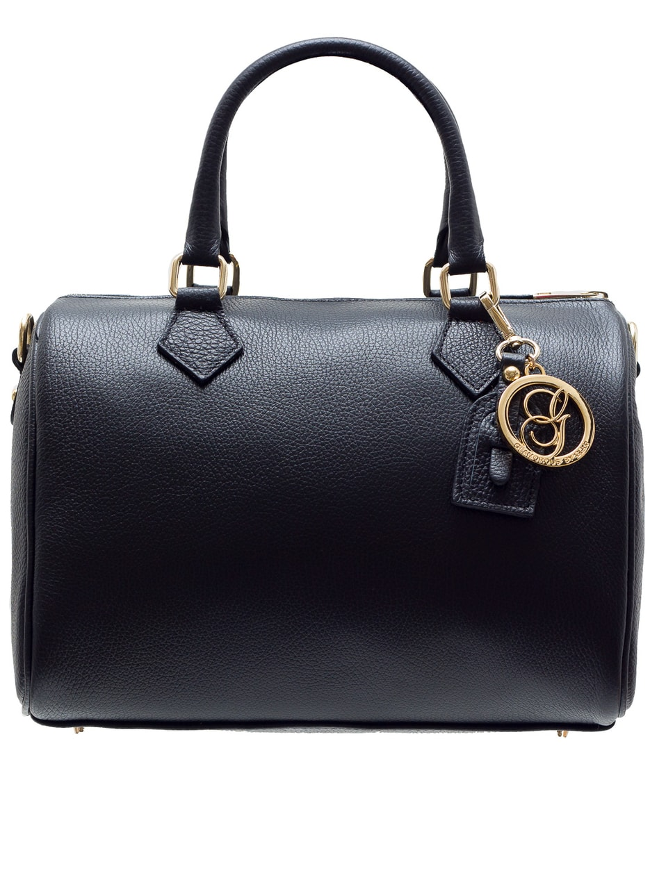 Glamadise.sk - Dámska kožená kabelka Gulati tvar - čierna ... eaa636616de
