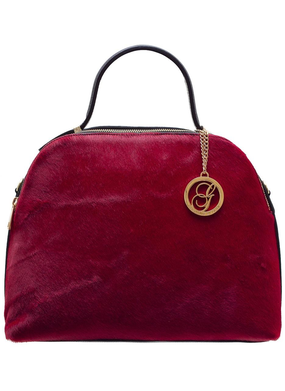 Glamadise.sk - Dámska kožená kabelka So srsti 2 zipsy - červená ... 8f41be2f6c5