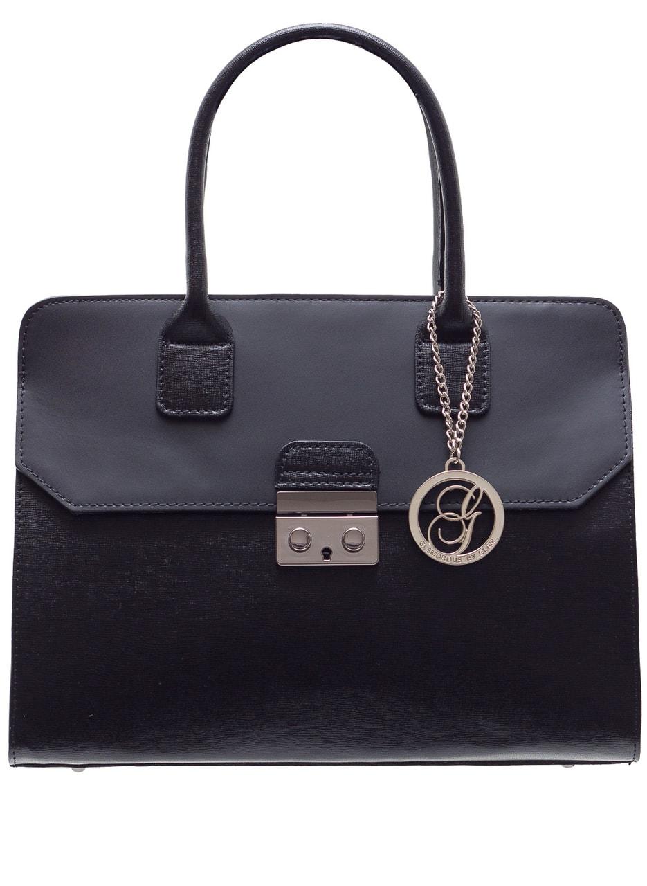 Glamadise.sk - Dámska kožená kabelka kombináciám kože saffiano ... d61e5ca0b80