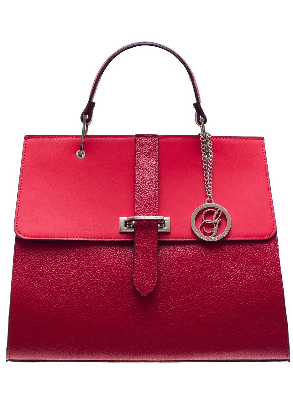 Women S Real Leather Handbag Glamorous By Glam Red