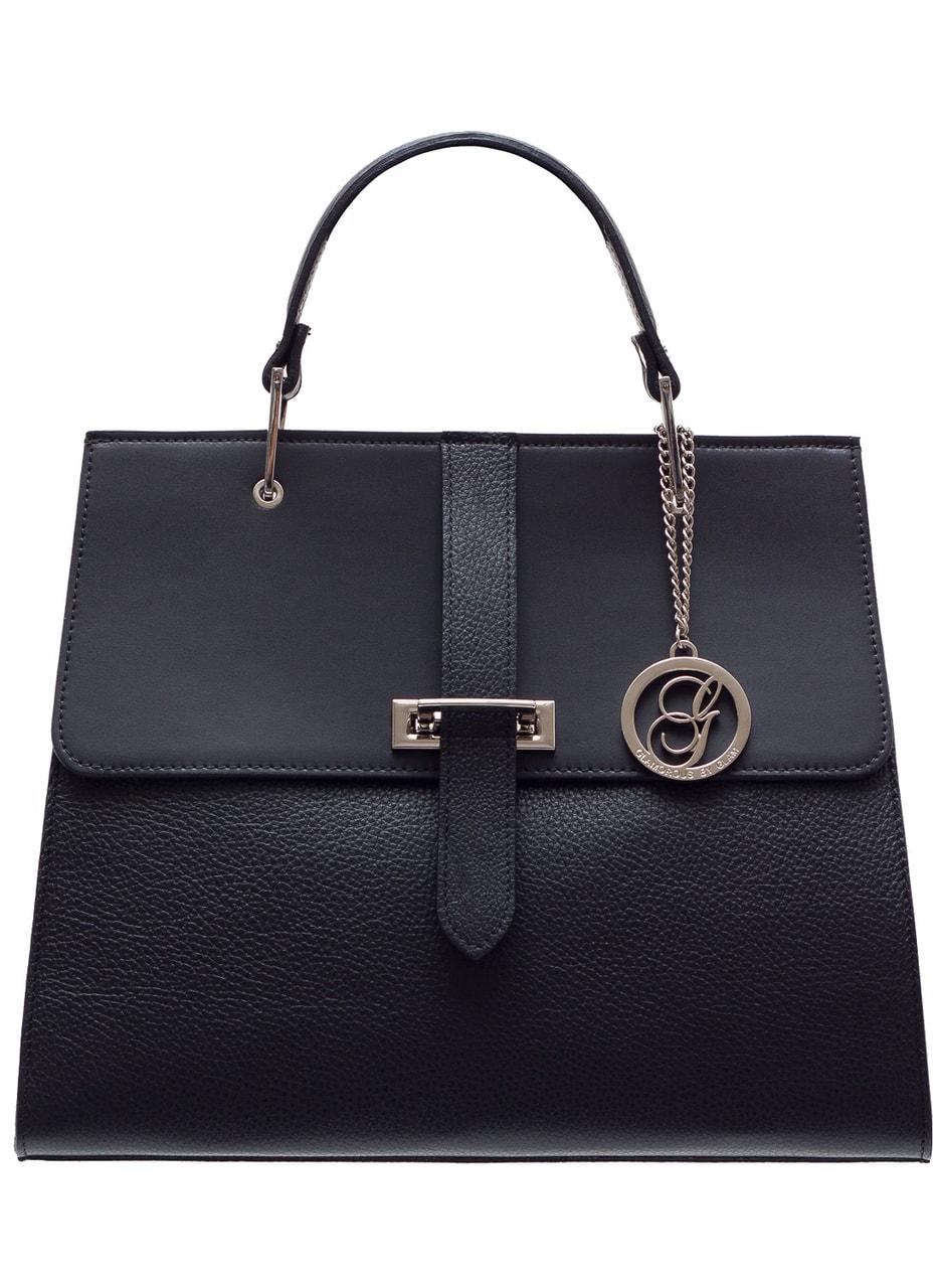 Dámská luxusní kabelka do ruky stříbrné zapínání - černá - Glamorous ... b8d398d5d4