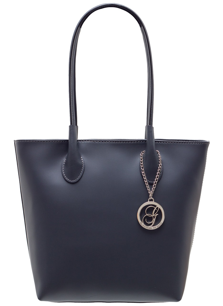 Dámská kožená kabelka přes rameno matná - šedá - Glamorous by GLAM ... 9b1f1be3052