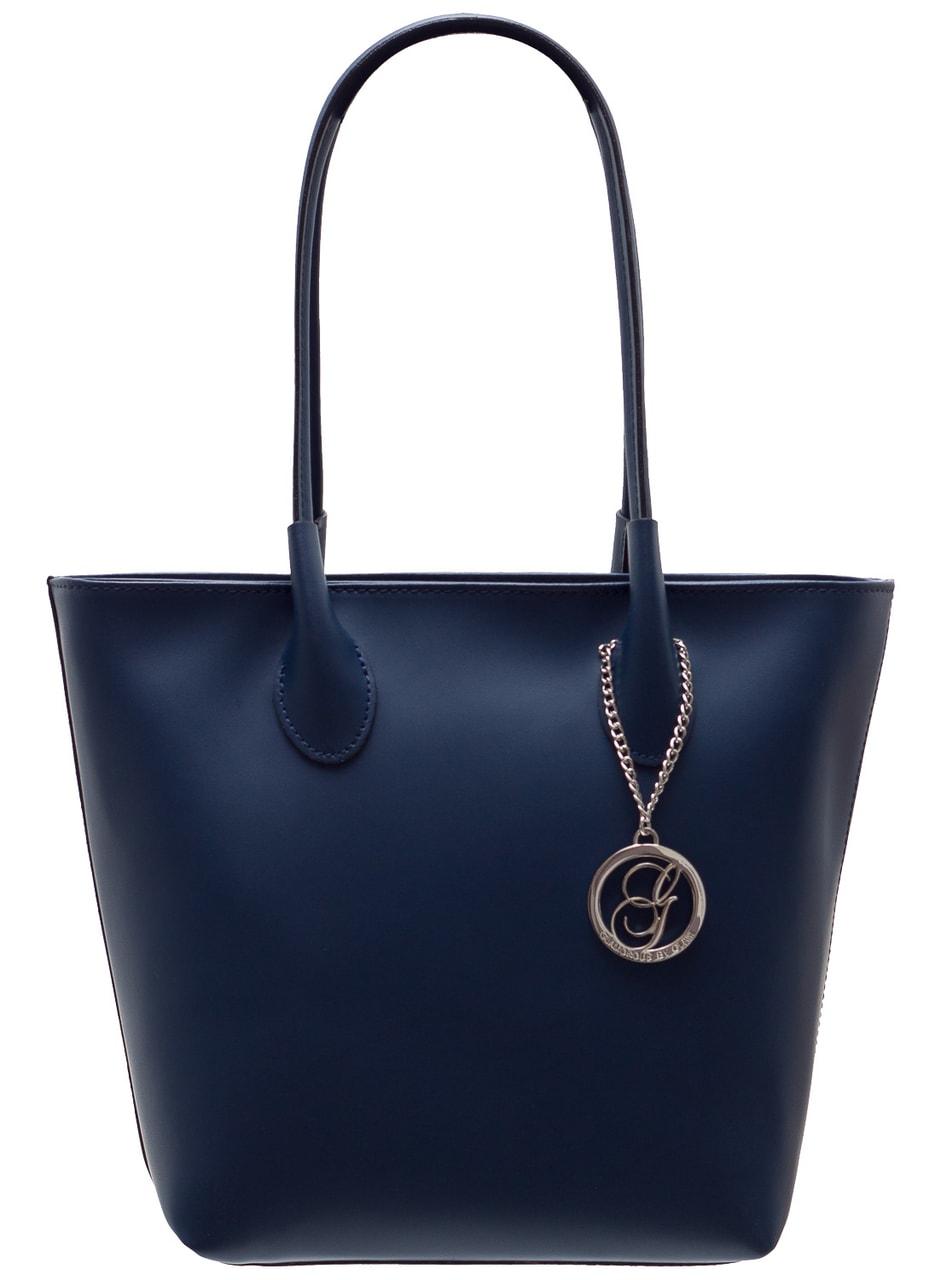 0162f67ab86 Dámská kožená kabelka přes rameno matná - tmavě modrá - Glamorous by ...