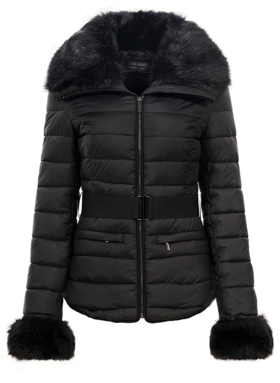 f8d5289fb0 Glamadise.hu Fashion paradise - Női téli kabát Due Linee - Fekete ...
