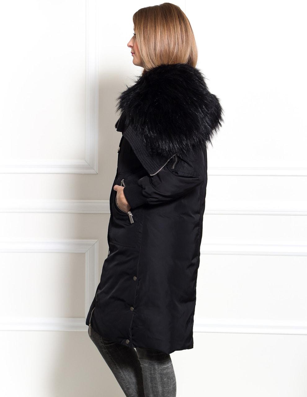 31385b933c Glamadise.hu Fashion paradise - Női téli kabát Due Linee - Fekete ...
