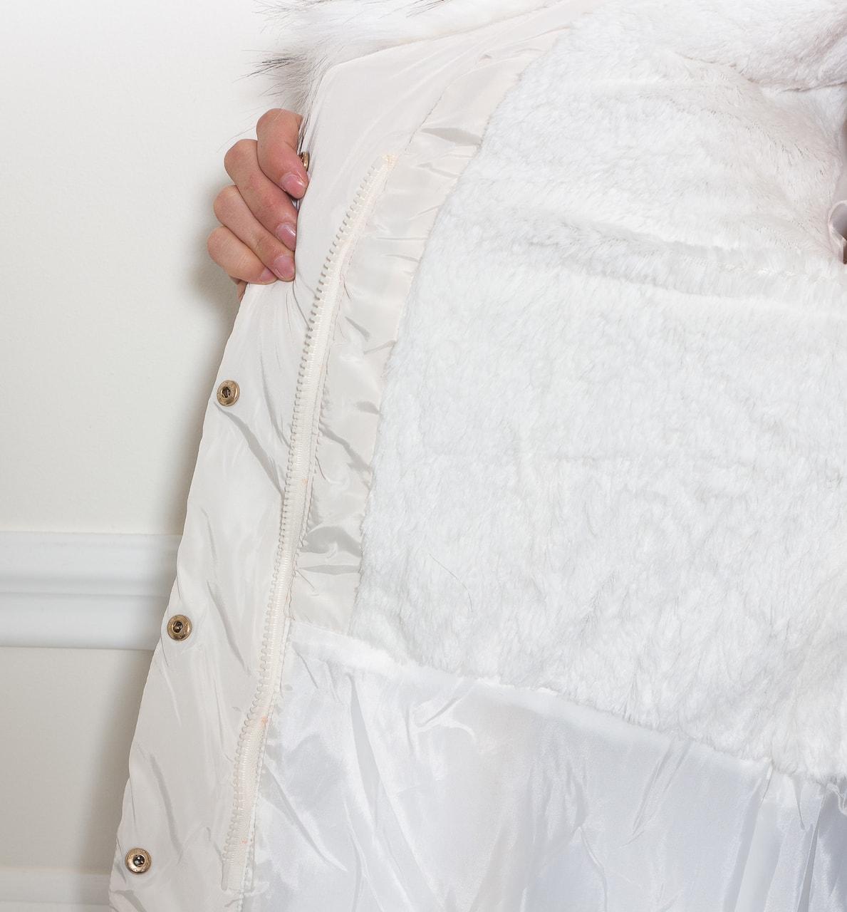 Dámská zimní elegantní bunda bílá - Due Linee - Poslední kusy ... 817857d0f0