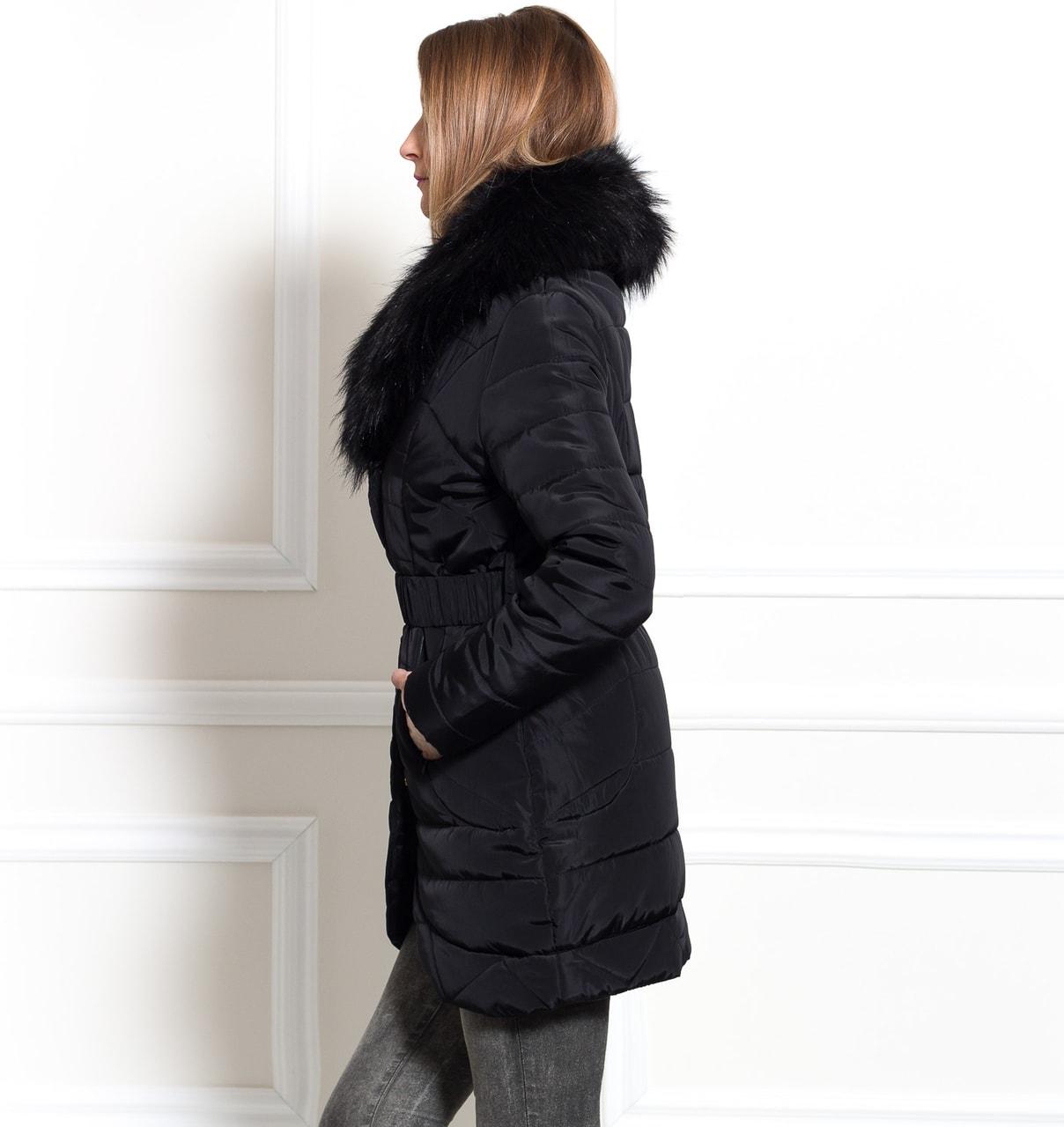 Dámská zimní elegantní bunda černá - Due Linee - Zimní bundy ... a5141e3377b