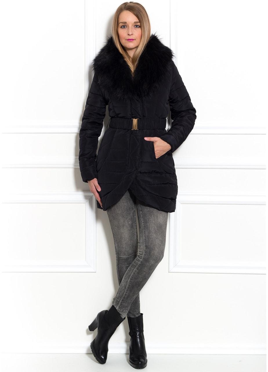 Glamadise.sk - Dámska zimná Elegantná bunda čierna - Due Linee ... b41c127e5ba