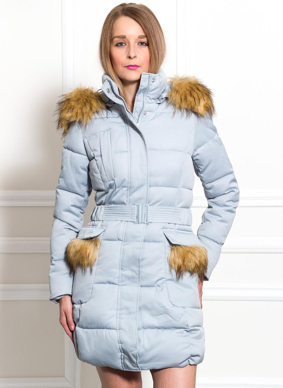 fba9d36d2d Glamadise.hu Fashion paradise - Női téli kabát Due Linee - Kék - Due ...