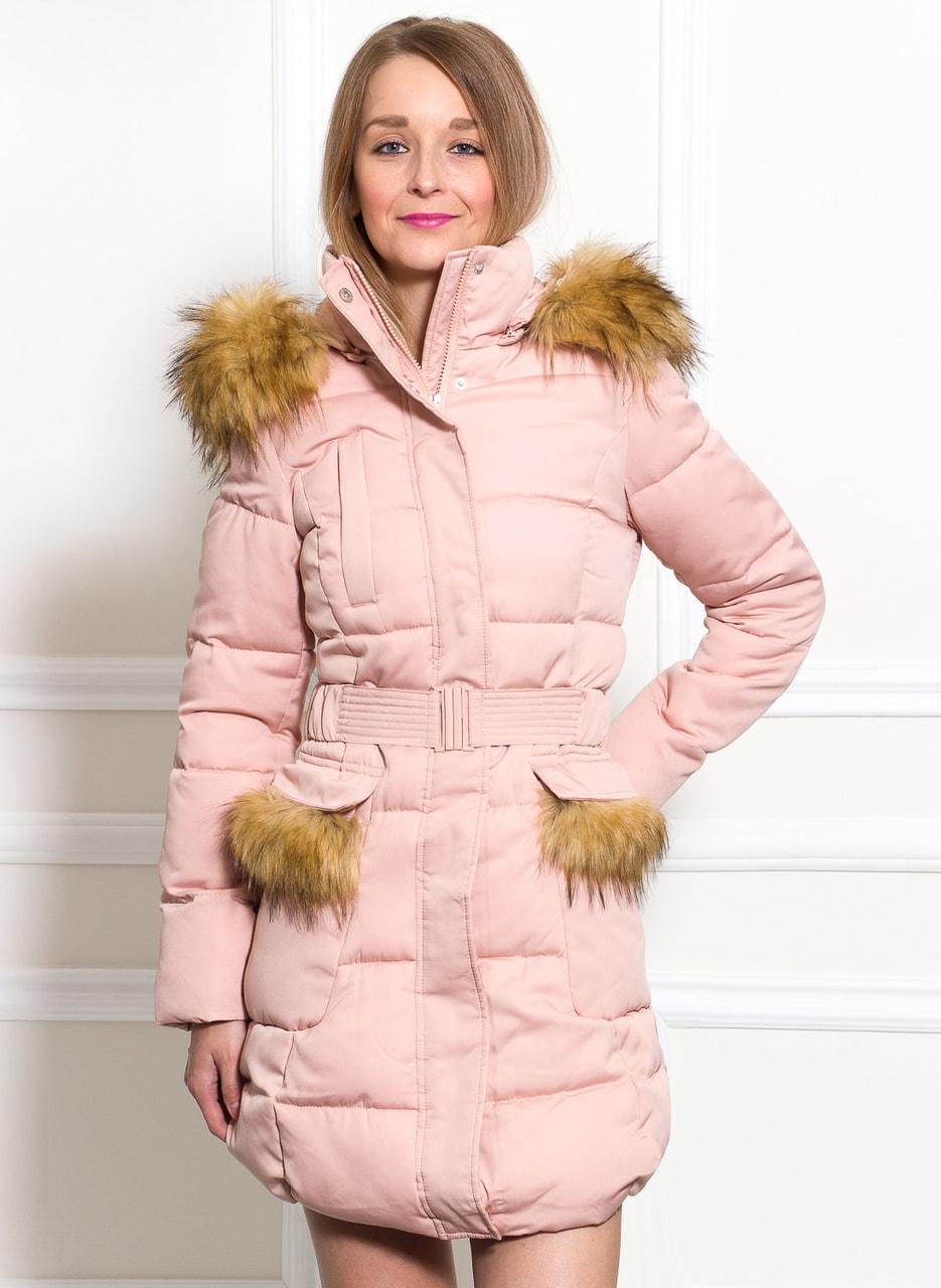 Glamadise.sk - Dámska zimná bunda svetlo ružová - Due Linee - Bundy ... c0ecf2af231