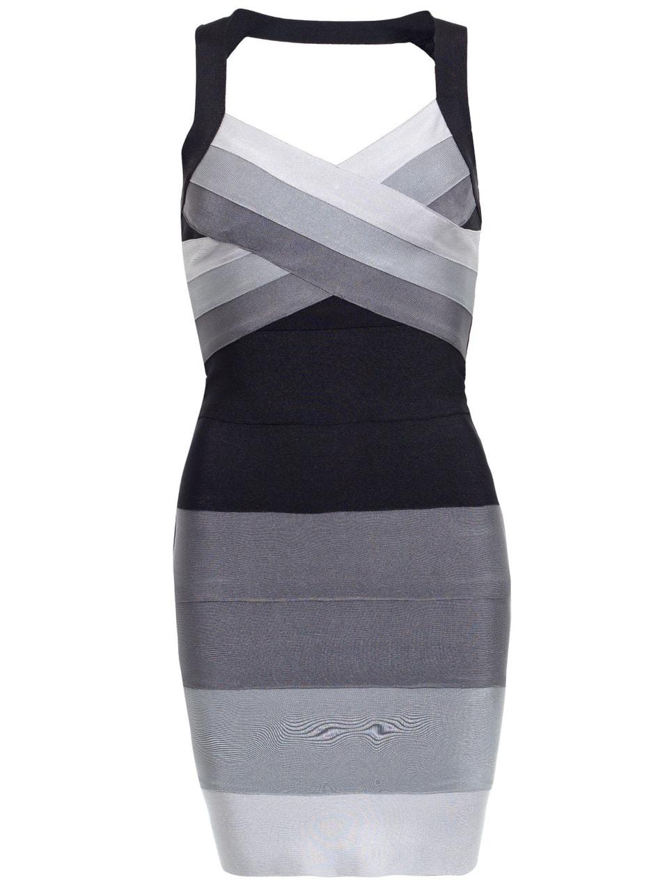 Glamadise.hu Fashion paradise - Női bandázs ruha Due Linee - Fekete ... 8f8d82ba6f