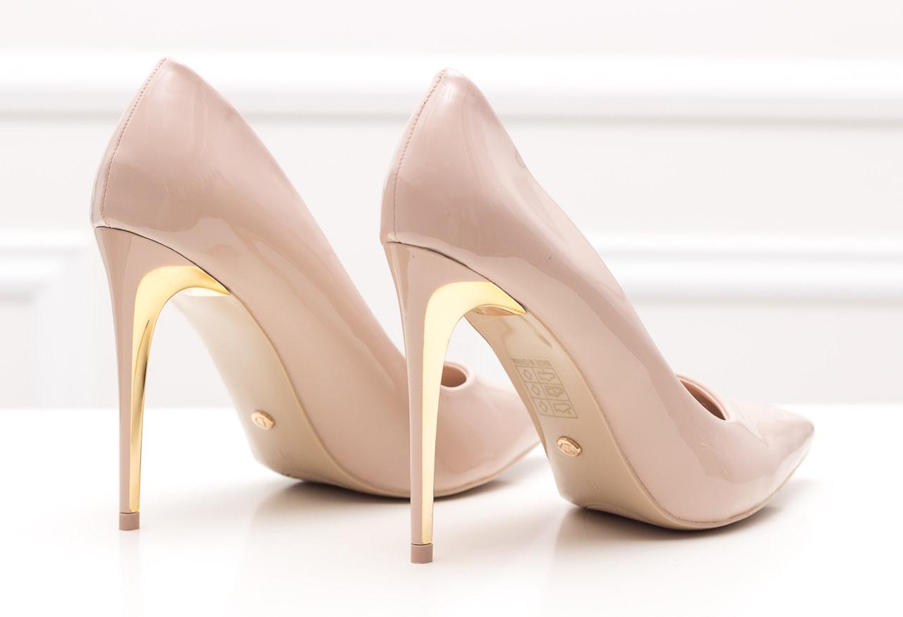 Dámské lakované lodičky - béžovo zlatá - GLAM GLAMADISE shoes ... 07b4e48724