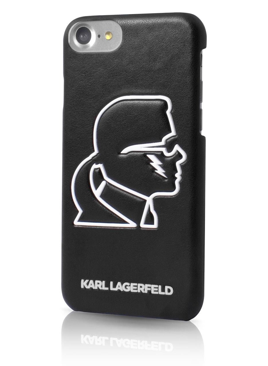 Glamadise.sk - Karl Lagerfeld kryt iPhone 6 7 8 čierny silueta ... 1d53d20459d