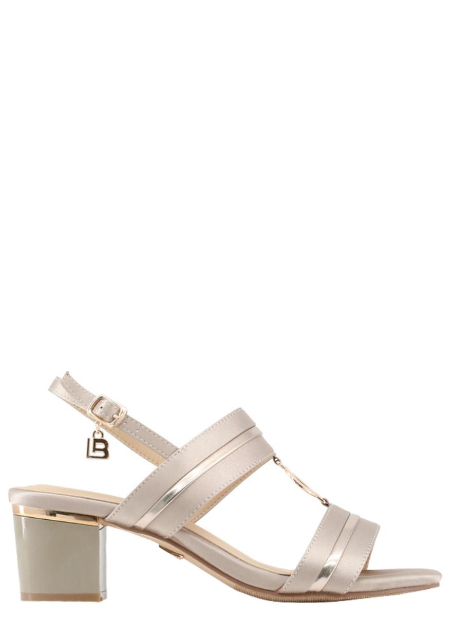 a08b752553 Glamadise.sk - Dámske sandále na nízkom podpätku béžovej - Laura ...