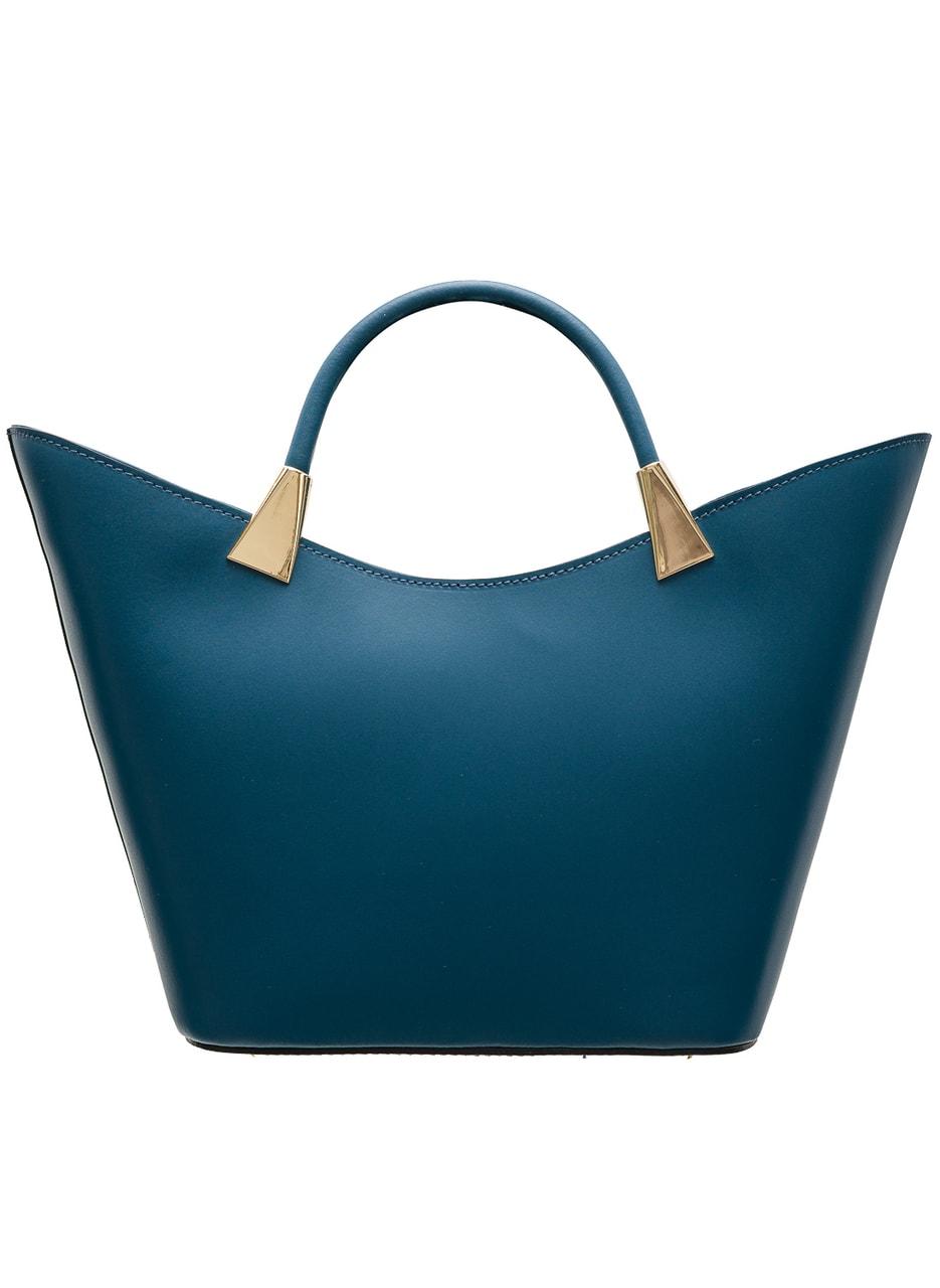 Glamadise.sk - Kožené elegantné kabelka malá - modrá - Glamorous by ... 2feaf2b0665