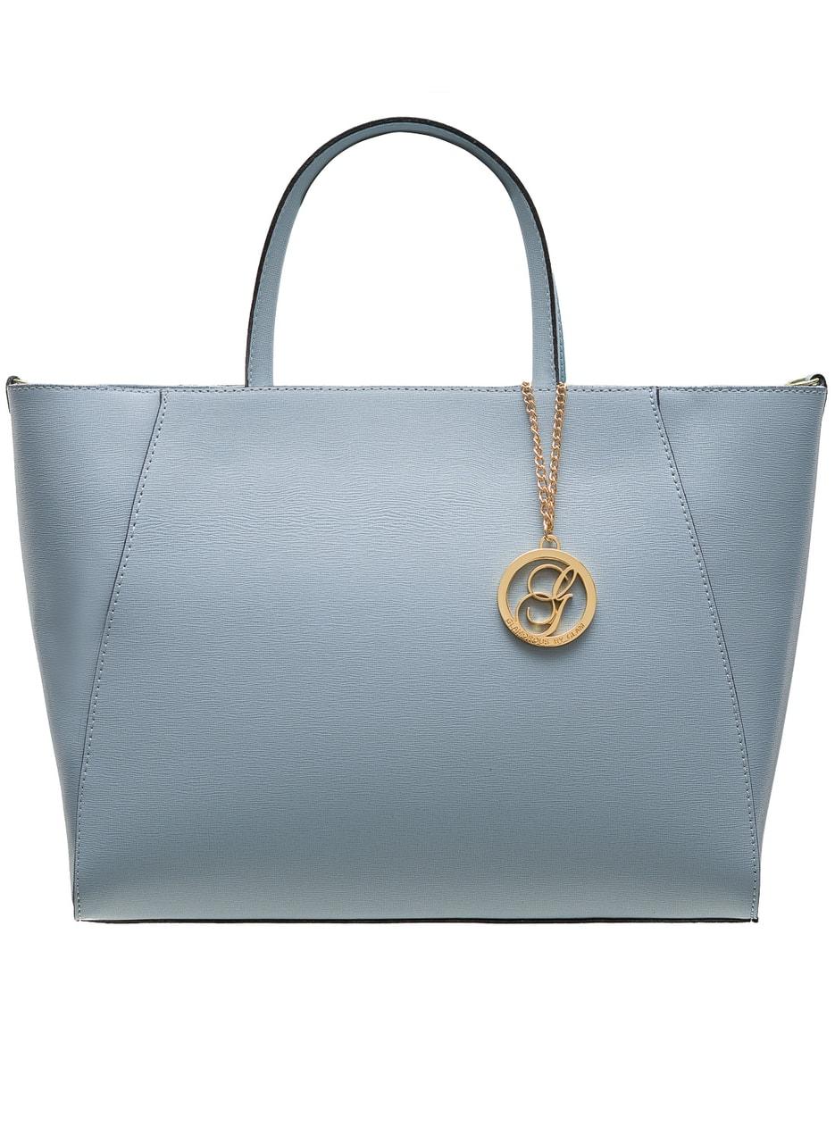 Glamadise.sk - Kožená kabelka zo safiánové kože jednoduchá - svetlo ... 70c93b462e5