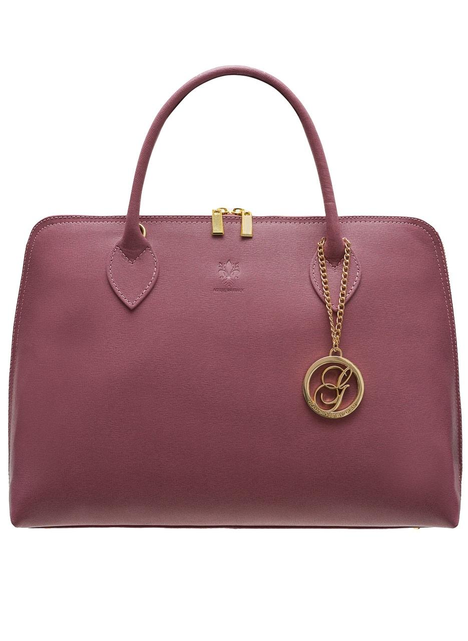 Glamadise.sk - Dámska kožená kabelka zo safiánové kože - fialová ... 627f14d8175