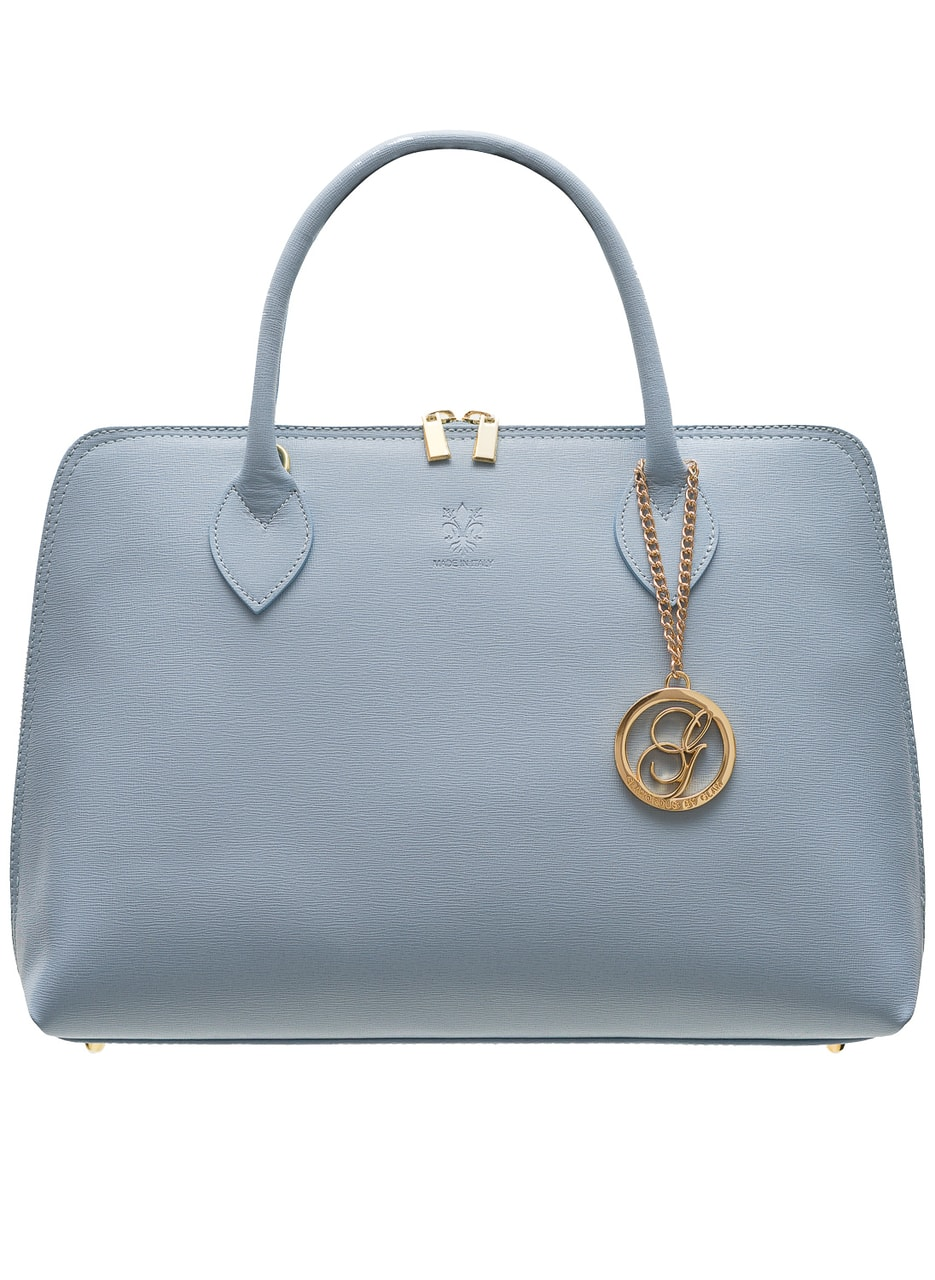 Women S Real Leather Handbag Glamorous By Glam Blue