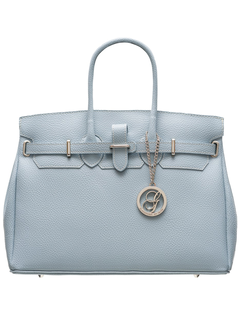 Women Real Leather Handbag Glamorous By Glam Blue
