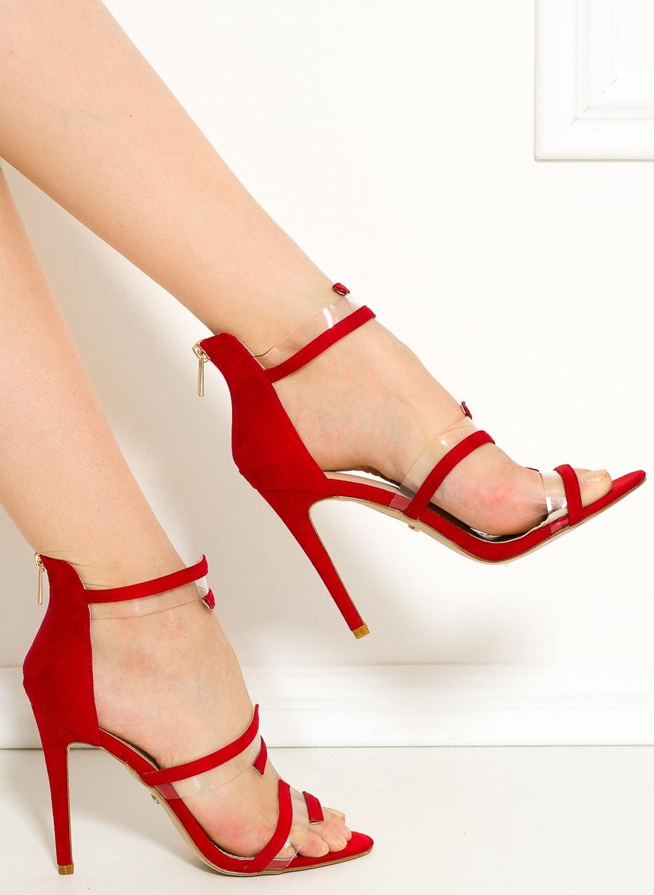 Glamadise.sk - Dámske páskové lodičky červené - GLAM GLAMADISE shoes ... a89b3cb59e