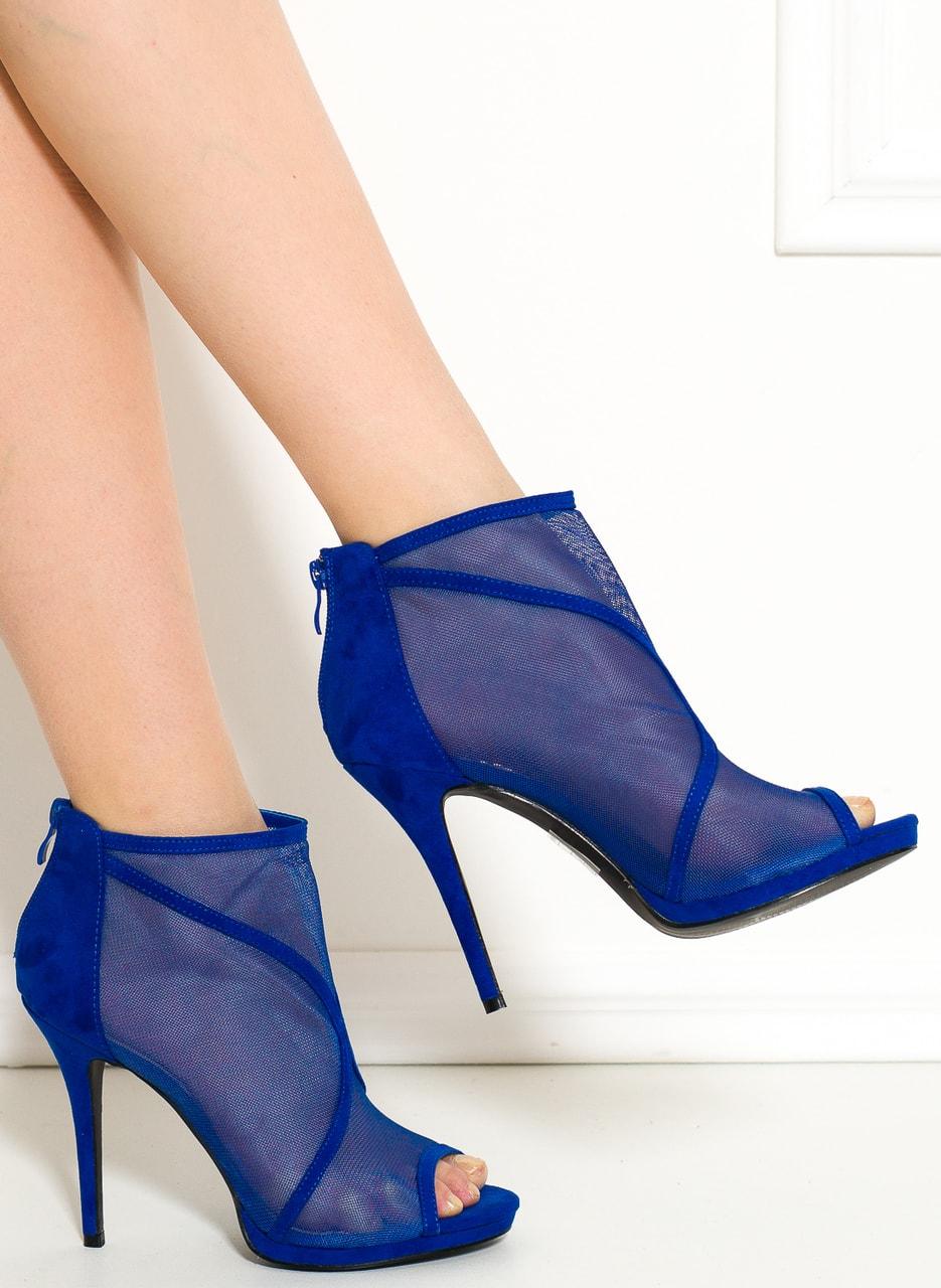 Dámské kotníková obuv královsky modrá se síťkou - GLAM GLAMADISE ... d546405835
