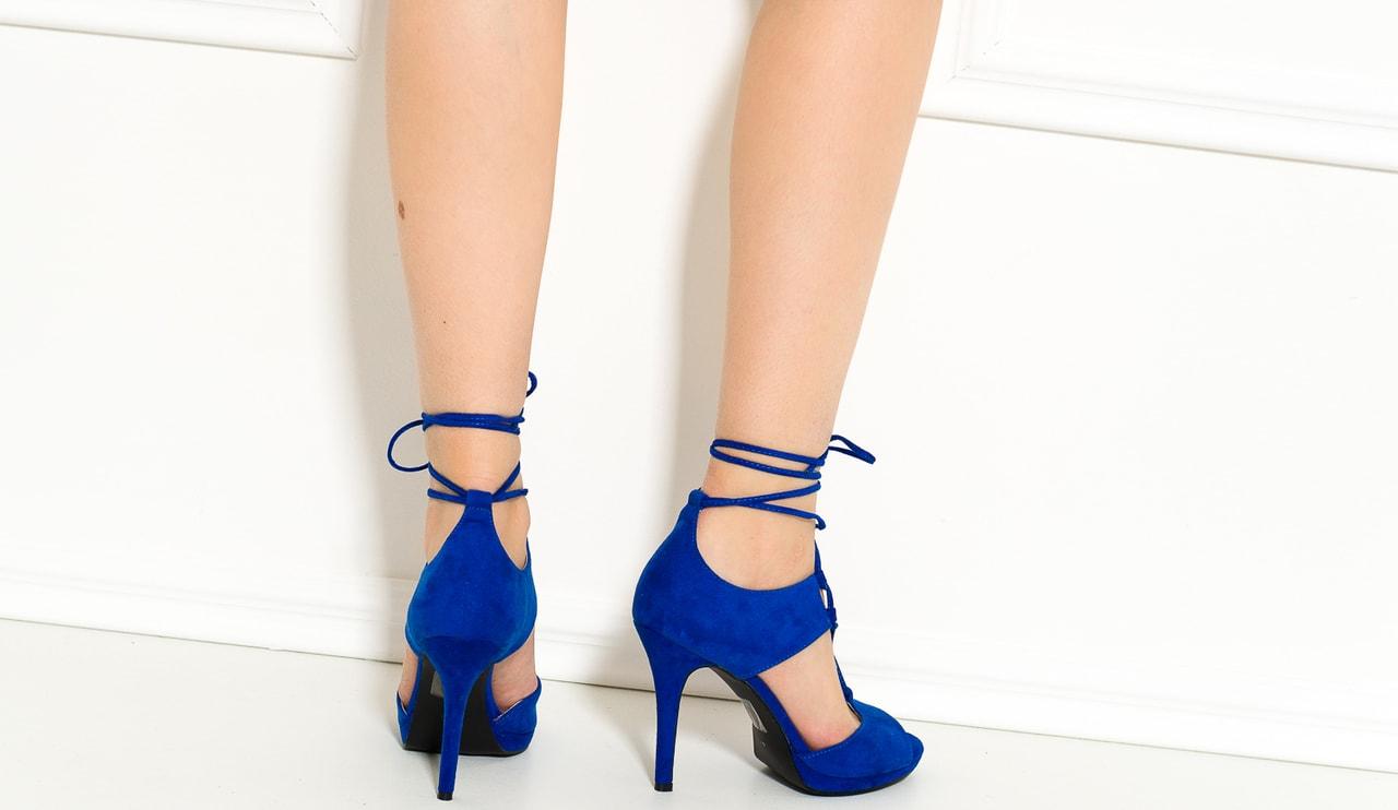 Dámske lodičky so šnurovaním kráľovsky modrej. Dámske páskové čierne  sandále s kamienkami. GLAM GLAMADISE shoes 849a52c901