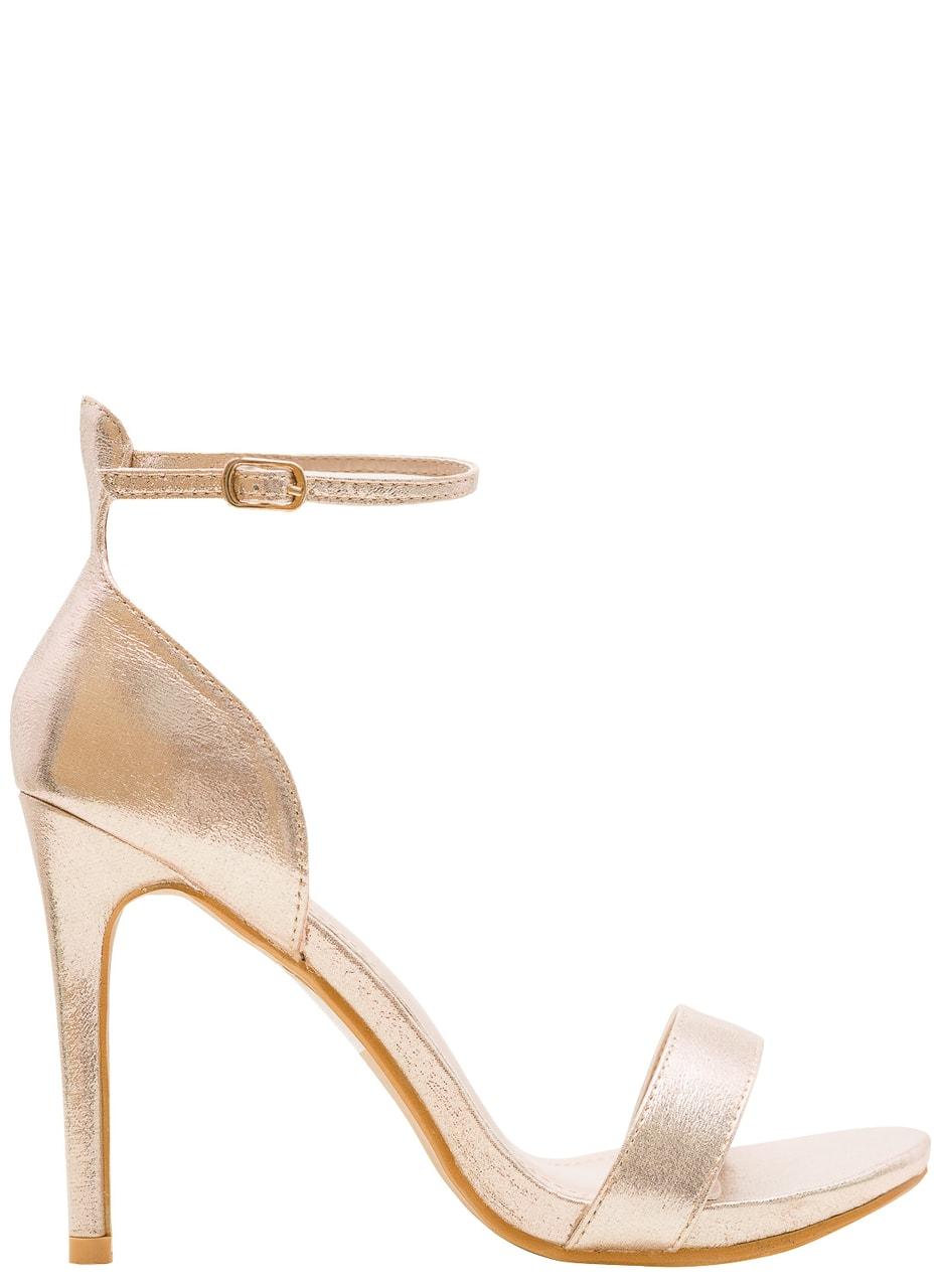 Dámské zlaté sandály na podpatku - GLAM GLAMADISE shoes - Sandály ... c9d36a1b8b