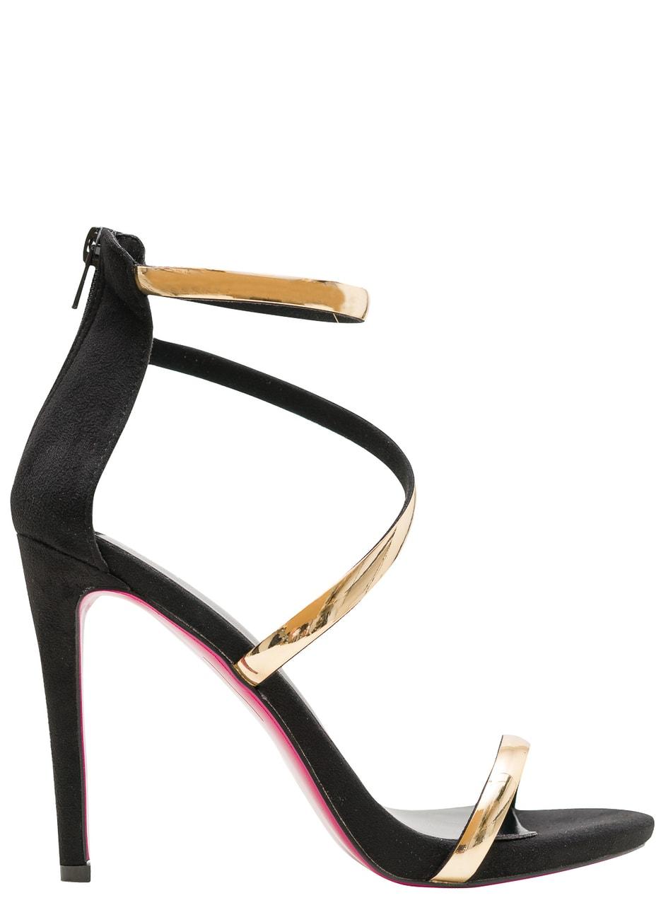Glamadise.sk - Dámske čierno-zlaté sandále - GLAM GLAMADISE shoes ... 3bcb0babc7