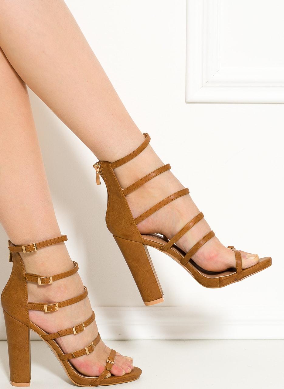 8ced4493c9b Dámské camel sandály na masivním podpatku - GLAM GLAMADISE shoes ...