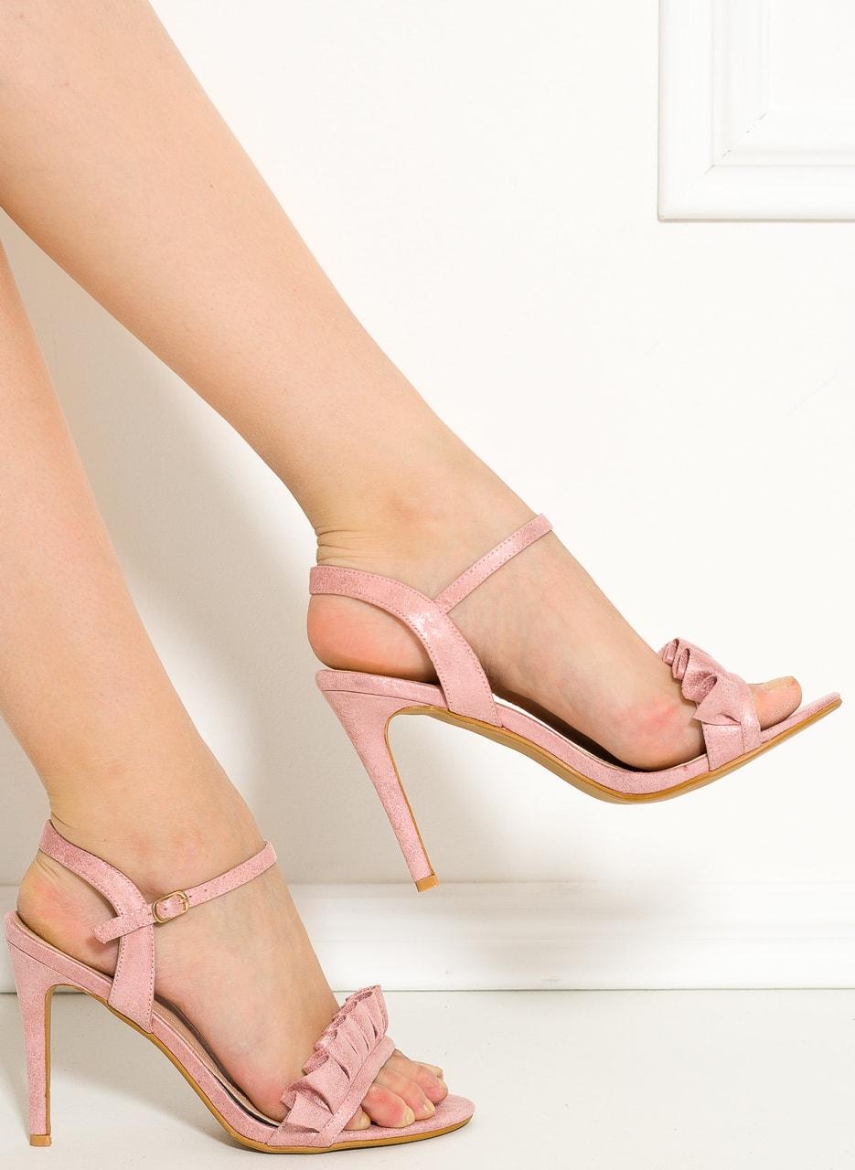 482589d56ff Dámské sandály na podpatku růžové - GLAM GLAMADISE shoes - Sandály ...
