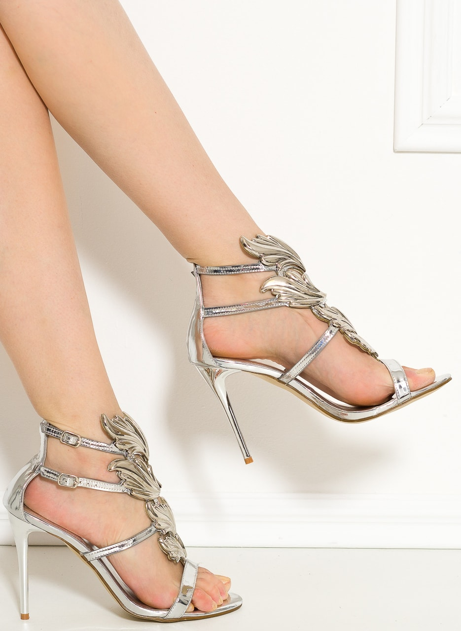 Dámské exkluzivní sandály stříbrné - GLAM GLAMADISE shoes - Sandály ... 02b067552b