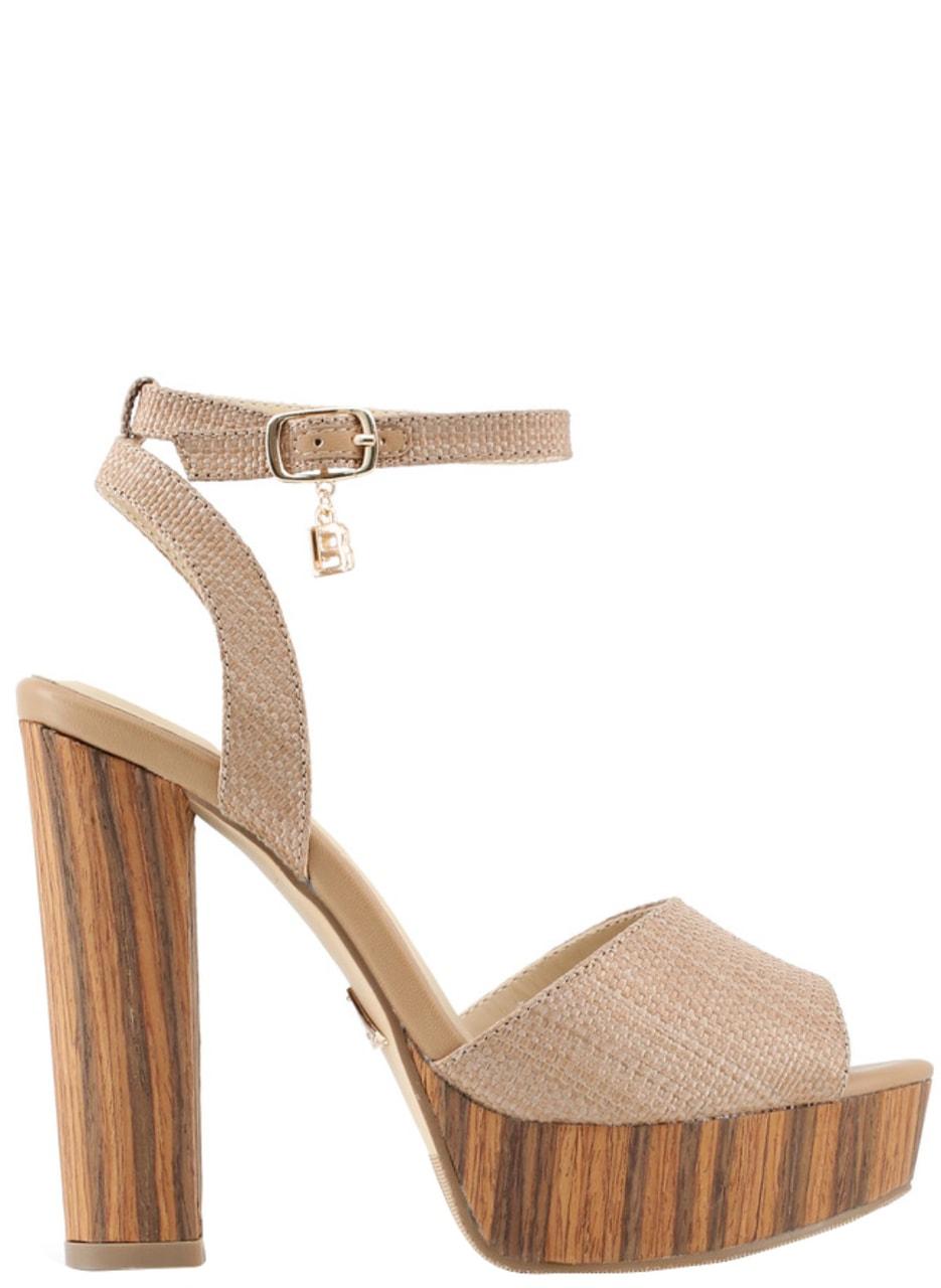 Glamadise.sk - Dámske sandále na platforme béžová - Laura Biagotti ... 7f99d1270d