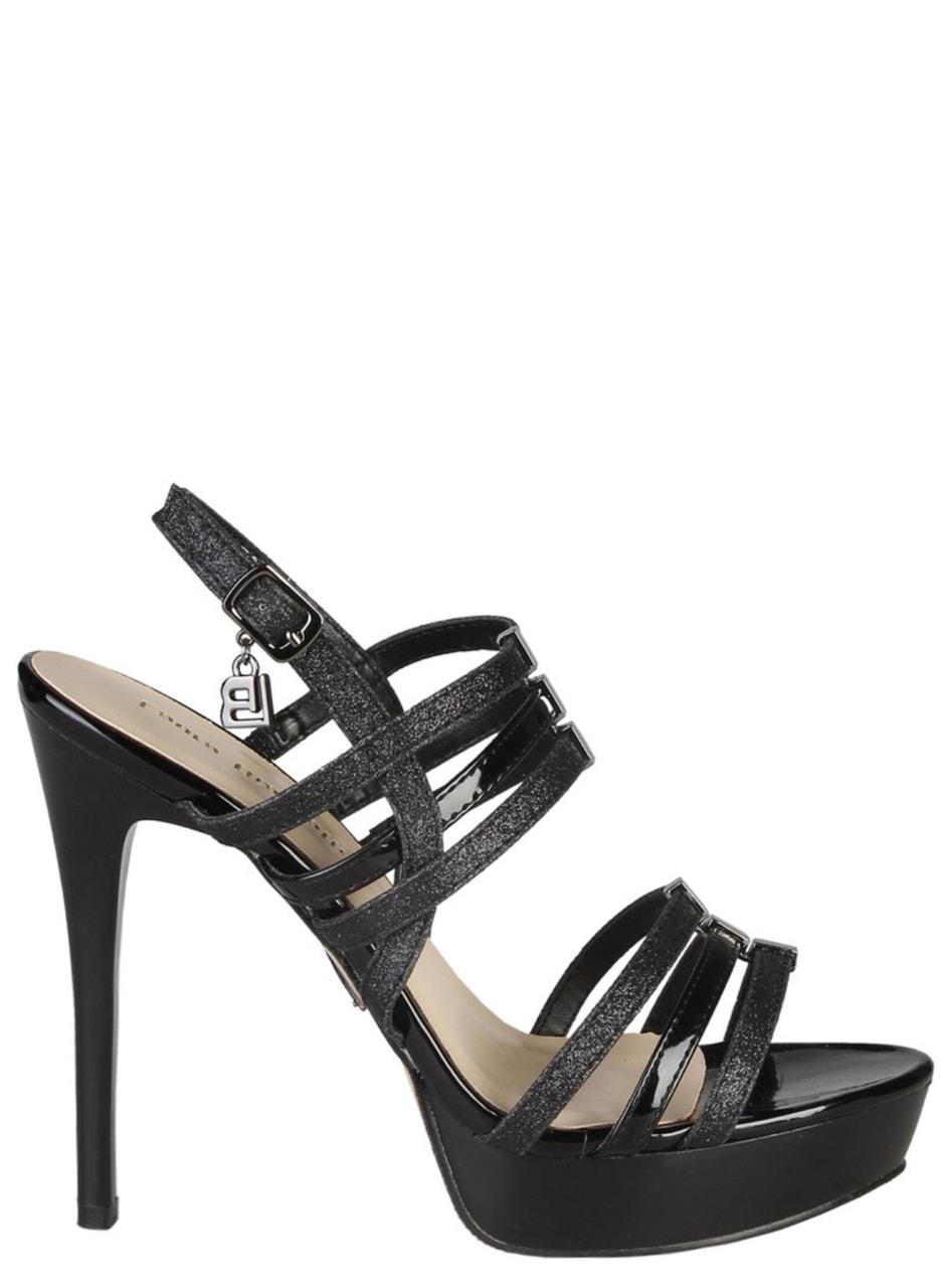 075cbe3fde29 Glamadise.sk - Dámske čierne sandále na platforme čierne - Laura ...