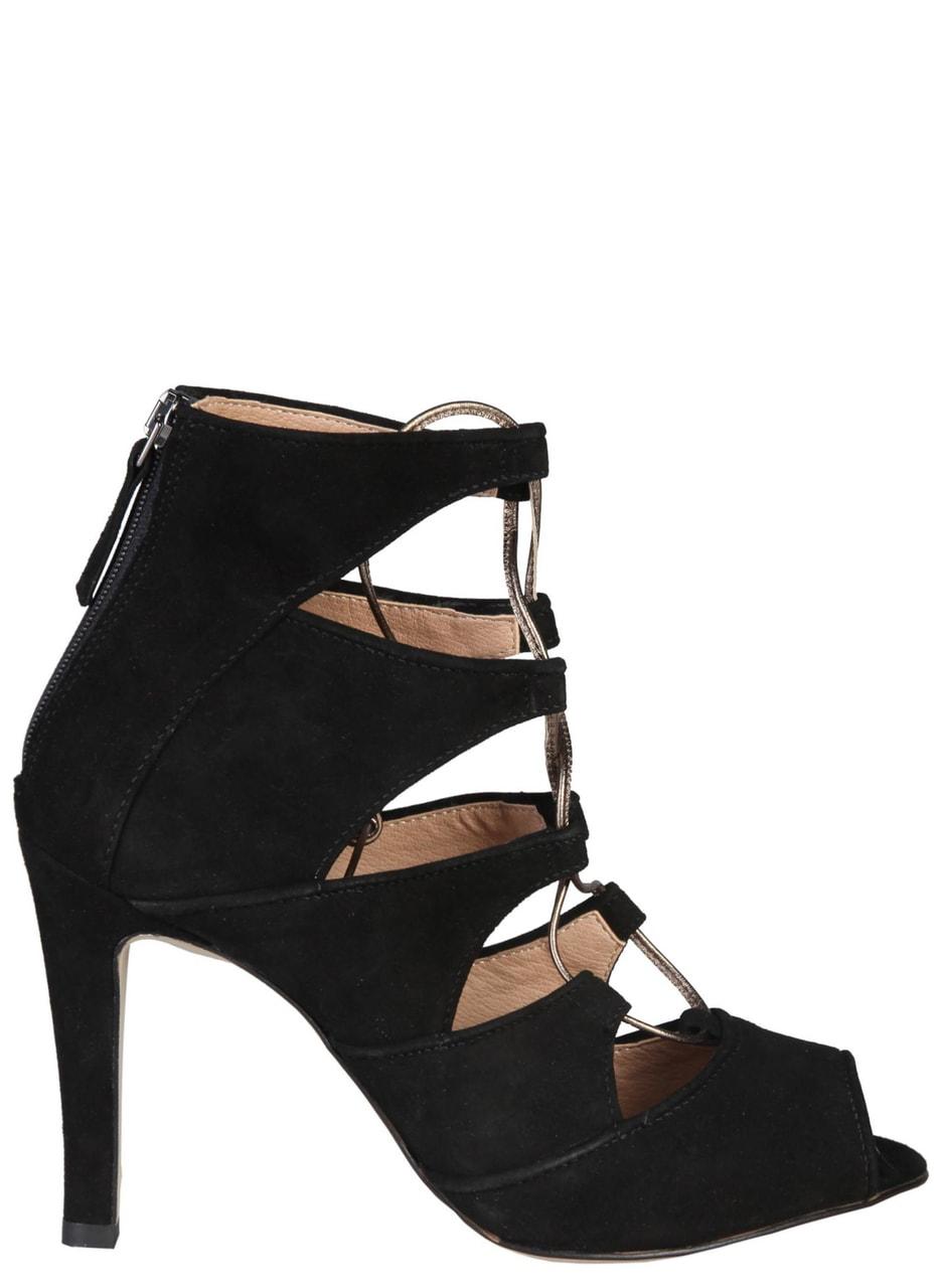 Glamadise.sk - Dámske kožené sandále čierne - Versace 1969 - Sandále ... a6689c01b3