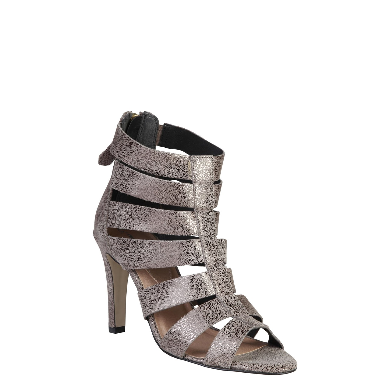 ae0ddeb3ed3f Glamadise.sk - Dámske kožené sandále páskové strieborné - Pierre ...
