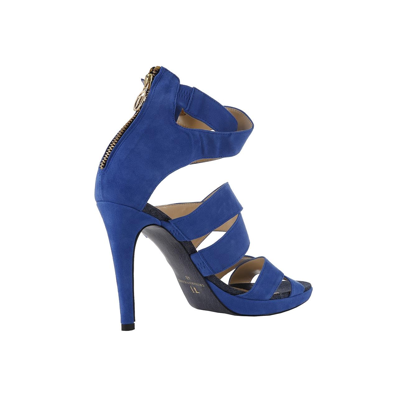 Glamadise.sk - Trussardi páskové sandále modré - Trussardi - Sandále ... fb4301e363