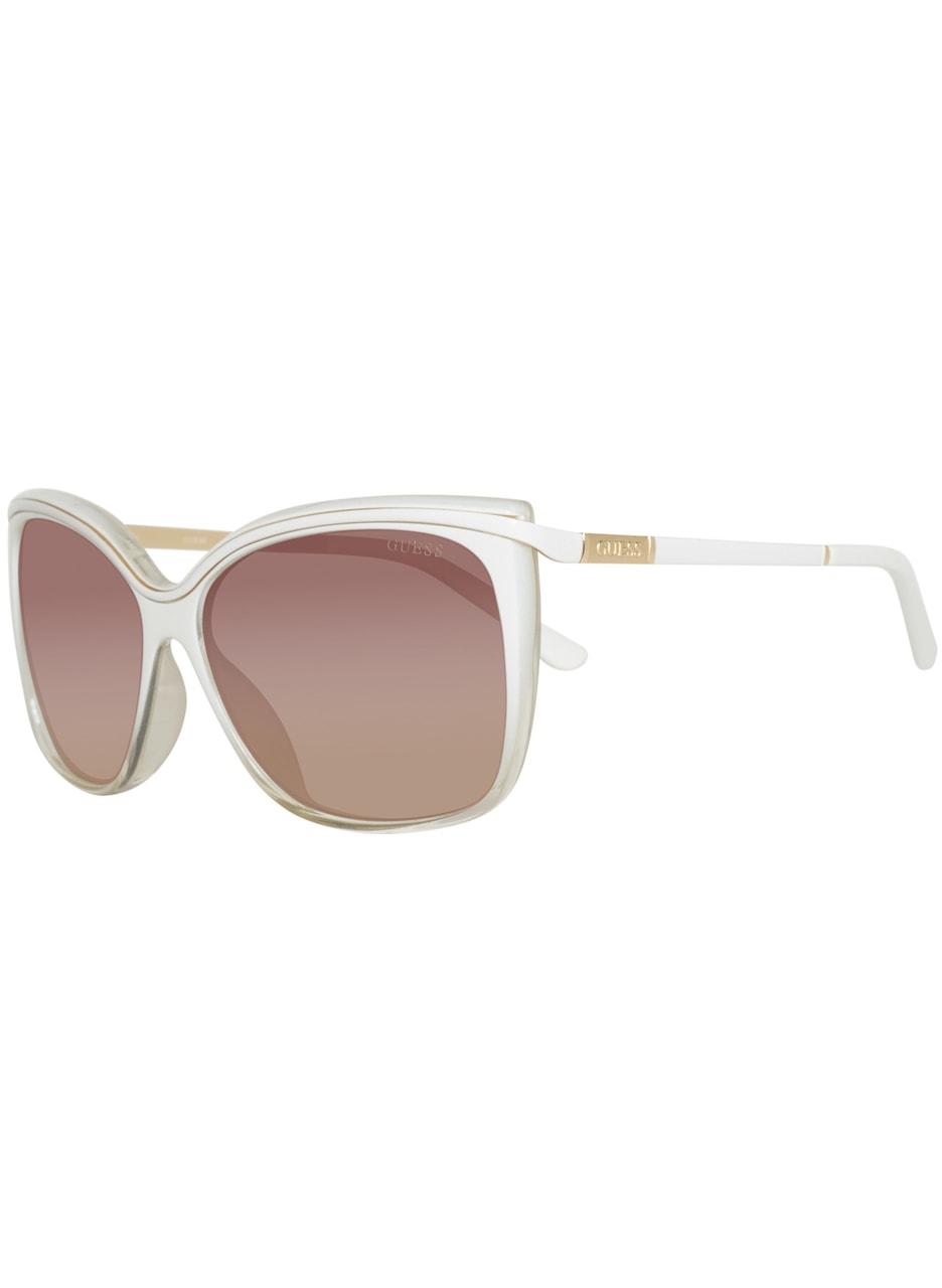 Glamadise.sk - Guess biele slnečné okuliare - Guess - Dámske slnečné ... 61ed701374c