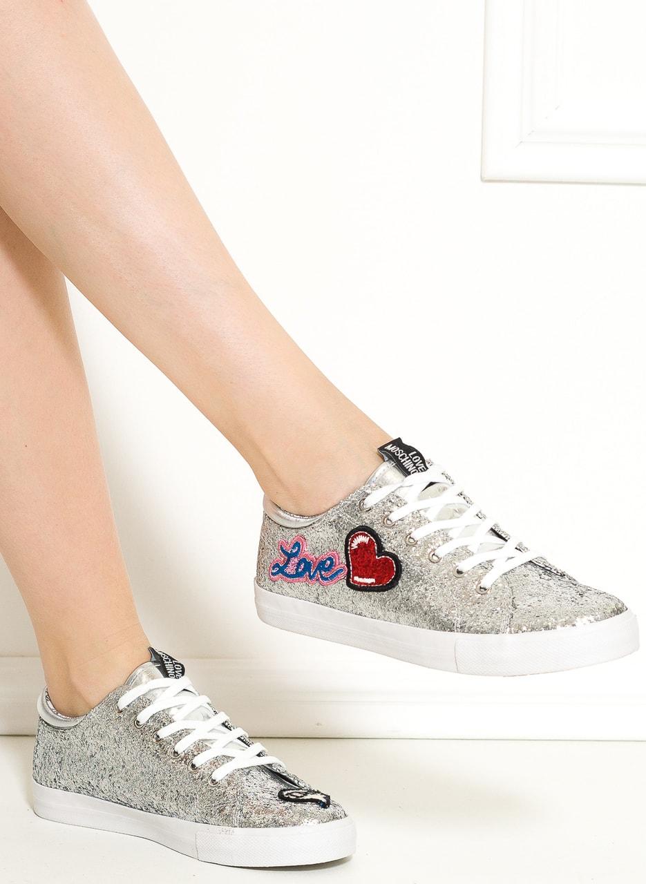 Glamadise.hu Fashion paradise - Női tornacipő Love Moschino - Ezüst ... 8a7a57f6b5