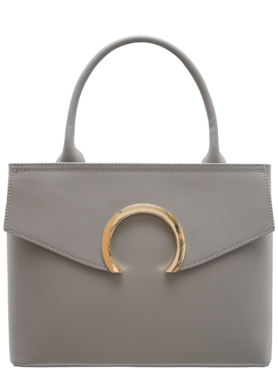 Women Real Leather Handbag Glamorous By Glam Grey