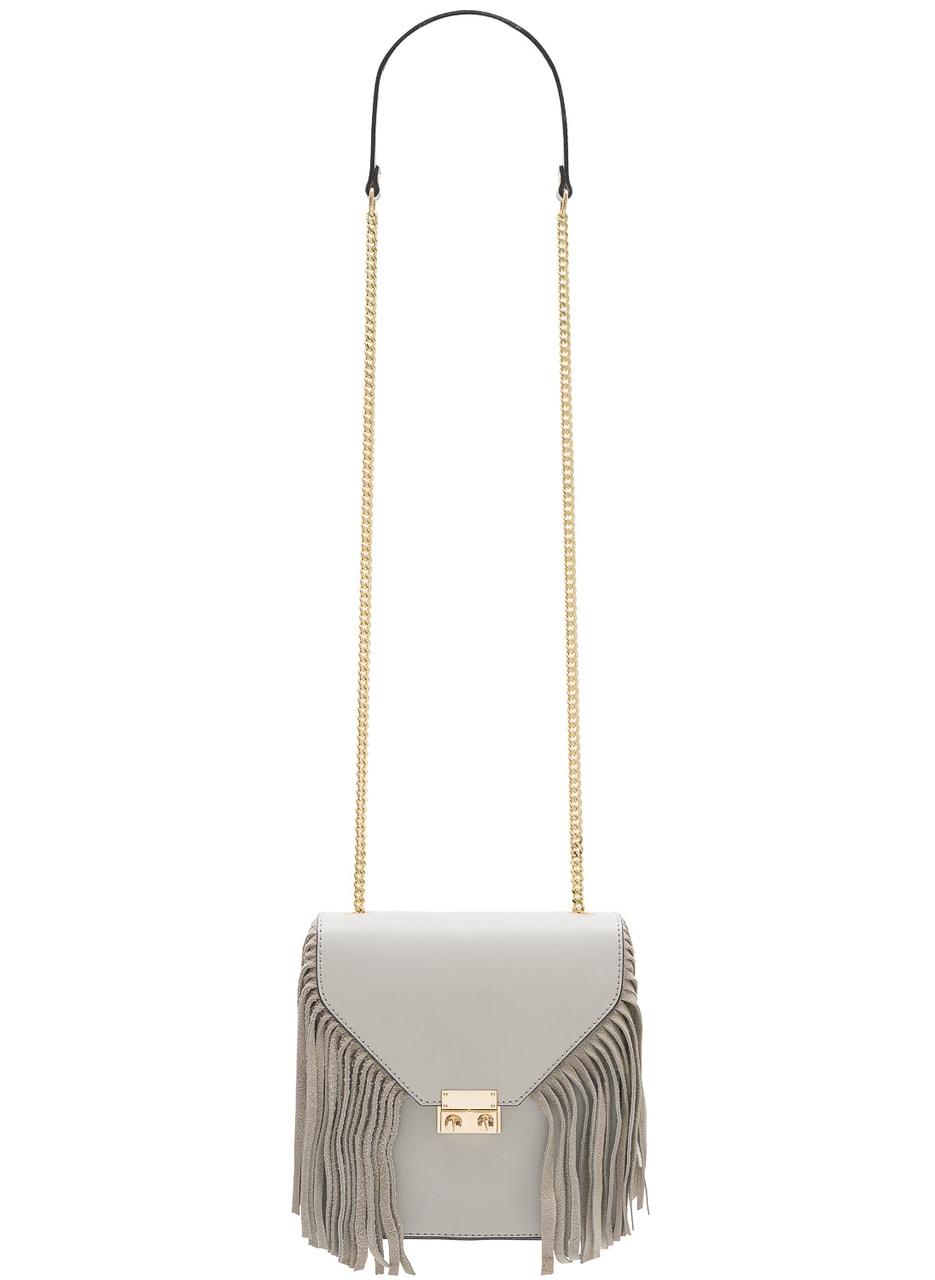 Glamadise.sk - Dámska luxusná kožená kabelka cez rameno - šedá ... 51ad82349ae